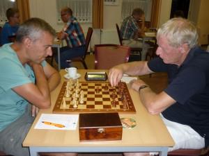 Jan Sulman (rechts) tegen Wim Pool